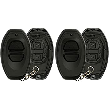 KPT3263 Pack of 2 KeylessOption Keyless Entry Remote Control Black Car Key Fob Shell Case Cover Button Pad for Toyota Dealer Installed Alarm System BAB237131-022
