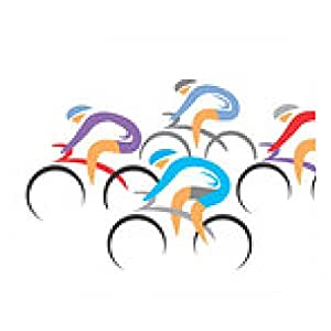 alfombrilla de ratón corredores ciclistas - rectangular - 23cm x 19 cm