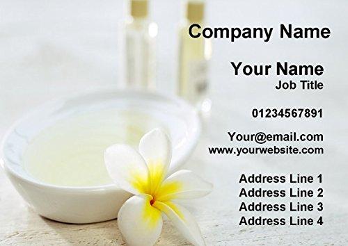 Beauty Salon Massage Treatment Spa White Personalized Business Cards