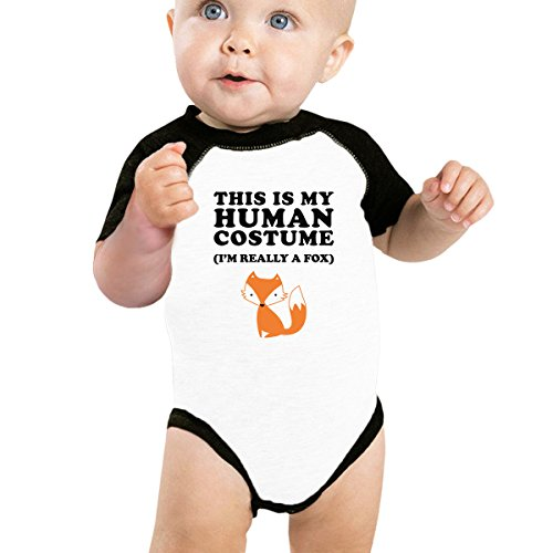 Inc Costumes Monsters Family (365 Printing This Is My Human Costume Baby Girl Onesie Halloween Costume)