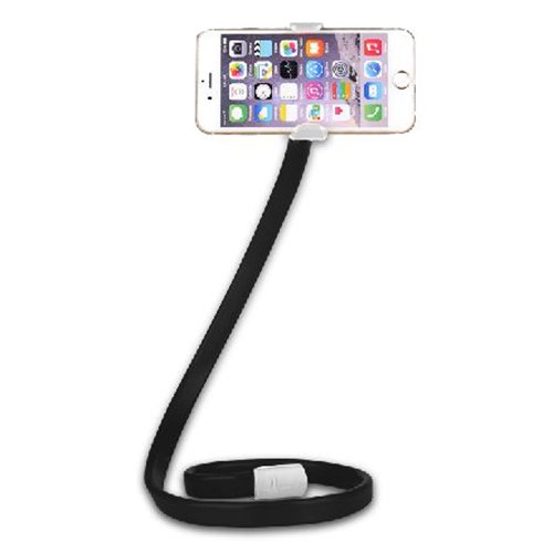 TOOGOO(R) Flexible Holder Long Arm Car Bed Desk Lazy Stand Mount For Mobile Phone GPS MP3 black&white