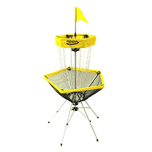Innova Discatcher Traveler Disc Golf Basket - Yellow