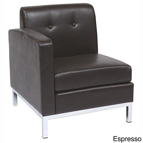 Office Star Products Wall Street Armchair Espresso