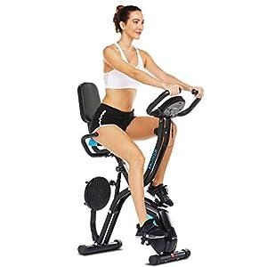 41PVjsfZjhL. SS300 ANCHEER Cyclette Pieghevole con Supporto per Tablet e Sedile Confortevole, Cyclette da Interno con App e 10 Livelli di Resistenza Magnetica Regolabile, capacità di Peso: 265 LB