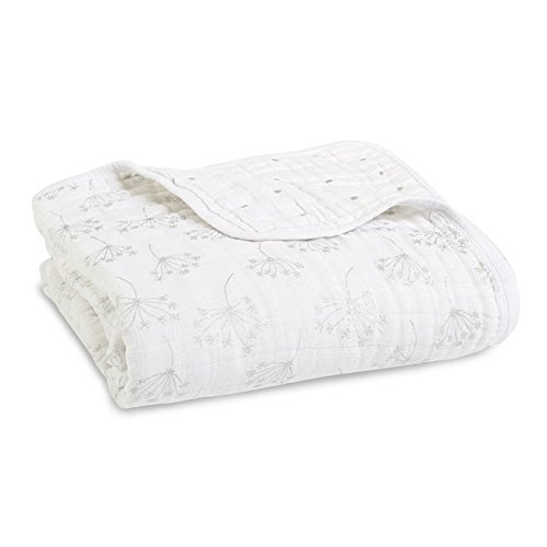 aden + anais Dream Blanket, 4 Layers 100% Cotton Muslin, 120cm X 120cm, Lovestruck ADEA3 6064G