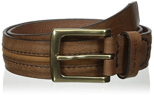 Carhartt Men's Canvas Inlay Belt, Brown, 40
