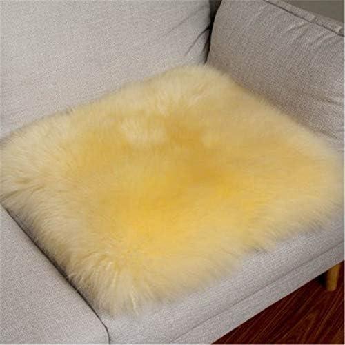 Luxurious Soft Genuine Australian Fur Sheepskin Rug Chair Cover Seat Pad Natural Fur Wool Chair Pad Area Rug