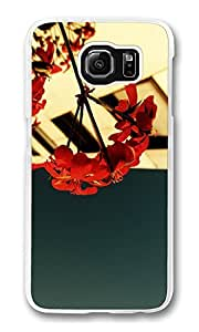 S6 able Case, Galaxy S6 Case, Flower start 77 Shock Absorption Bumper Case Slim of Fit Protector able Cover for Samsung Galaxy S6 Hard Plastic Clear PIX1 Customize Case