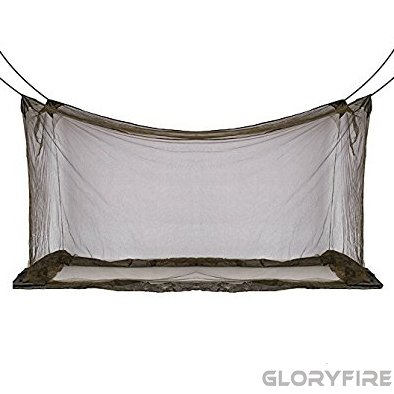 GLORYFIRE Camping Mosquito Net Four Corners Enhanced Tactical Mosquito Net Outdoor Mosquito Net Bar Olive - Net Bar Mosquito