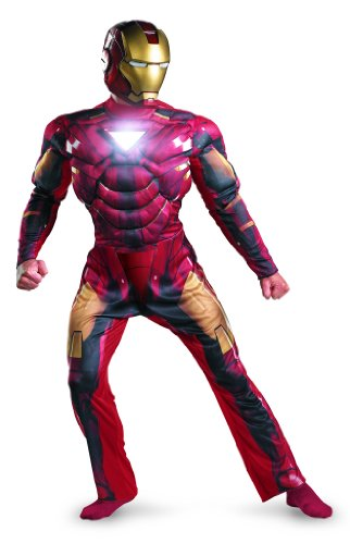 Marvel Disguise Men's Iron Man Mark 6 Light Up Deluxe Adult