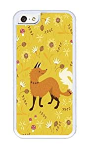 Apple Iphone 5C Case,WENJORS Adorable Cute as a Fox Soft Case Protective Shell Cell Phone Cover For Apple Iphone 5C - TPU White