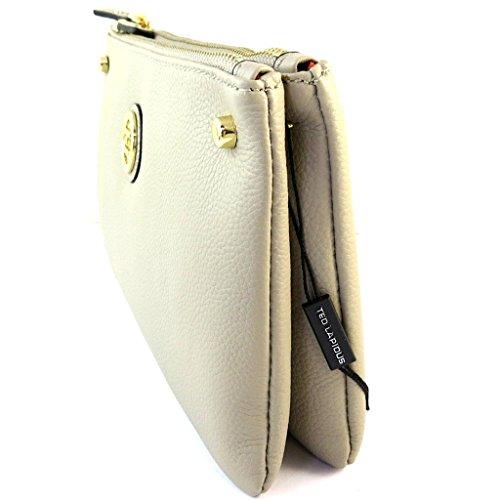 'ted Lapidus'beige De 26x15x4 Cm Cuero Compartimentos 2 Bolsa EqtaHw