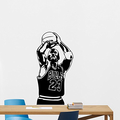 r Wall Decal Sport 23 Sign Air Jordan Basketball Poster Stencil Gym Wall Vinyl Sticker Kids Teen Boy Room Nursery Bedroom Wall Art Decor Mural 157nnn ()