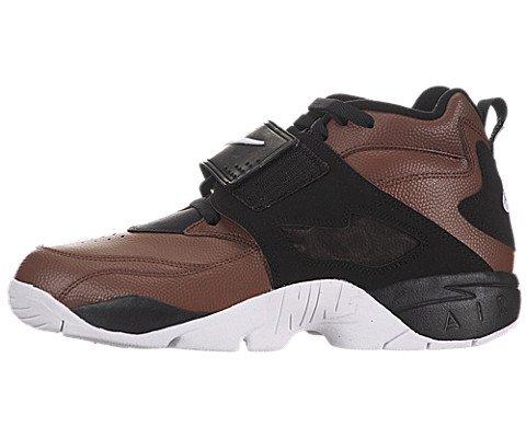 Nike Men's Air Diamond Turf Field Brown/White/Black Training Shoes 8.5 Men US (Nike Diamond Cross)