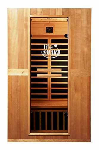 Lifesmart LS-TCED-IC2 Infracolor Ultimate 2-Person Sauna with Multi Remote Control Chromotherapy and Dual Tech Heating System
