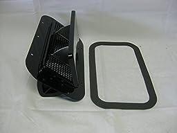 Aluminum Low Profile Popup Roof Vent Black Air Flow RV Trailer Dog Box w/Gasket