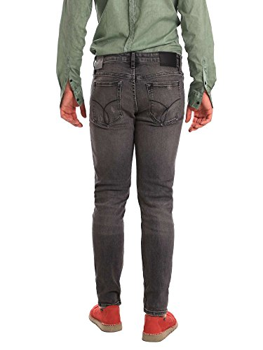 Grigio Cavern Skinny Calvin Uomo Klein Destructed Jeans 58cwPqY