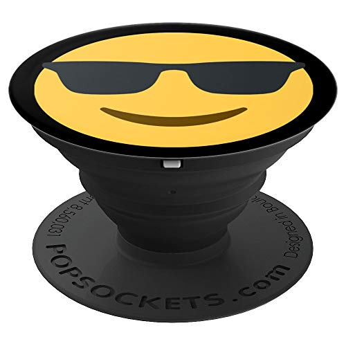 Smiling Face With Sunglasses PopSockets Grip and Stand for Phones and ()