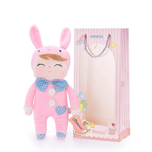 Me Too Angela Smiling Bunny Stuffed Rabbit Dolls Toys Easter