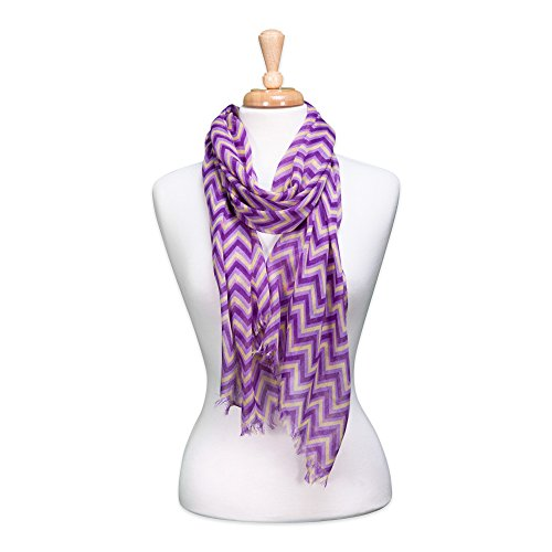Tickled Pink Women's Game Day Sports Team Apparel Scarf or Wrap, Purple/Gold, 20 x ()