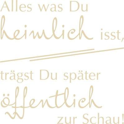 Kühlschrank Aufkleber Wandtattoo Tattoo für Küche Motivations Spruch (40x40cm//082 beige)