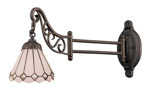 Elk 079-Tb-04 Clear Diamond Mix-N-Match 1-Light Swing Arm Sconce, 12-Inch, Tiffany Bronze