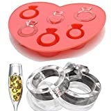 BonAchat 2015 New Cool Love For Hot Summer Ramdom Color Silicone Frozen Food Candy Cookie DIY Making Mold Tray 6-cavity Cute Lovely Love Ring Shaped Ice Cake Chocolate Sugar Silicone Mini Cube Craft Fondant Mold Tray