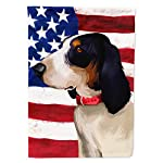 Caroline's Treasures CK6407GF Ariegeois Dog American Flag Flag Garden Size, Small, Multicolor 4