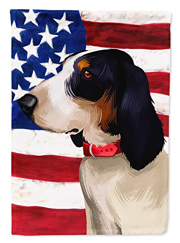Caroline's Treasures CK6407GF Ariegeois Dog American Flag Flag Garden Size, Small, Multicolor 1