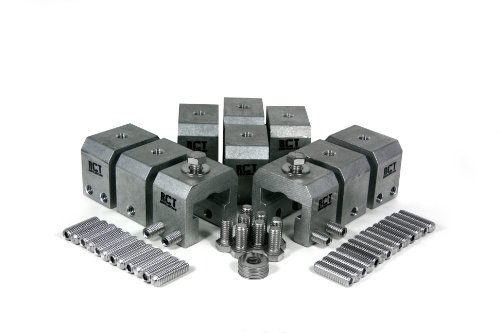 (10 Piece RCT Clamp Accessory Attachment Kit for Mounting Things To Standing Seam Metal Roofs)