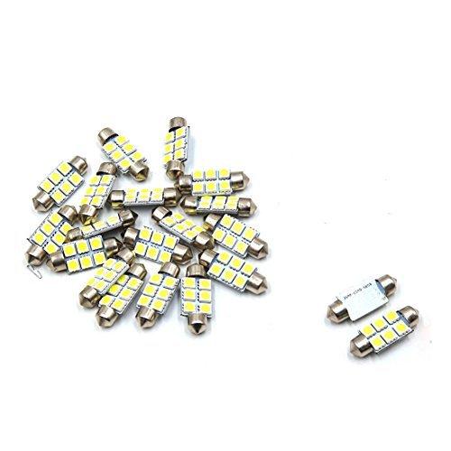 Amazon.com: eDealMax 20pcs 36mm 6 LED 5050 SMD de bóveda del Adorno coche de la luz Blanca Interior DC 12V: Automotive