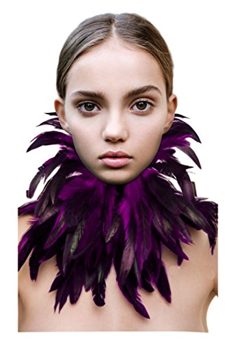 L'vow Gothic Victorian Natural Feather Choker Neck Wrap Collar for Halloween ()