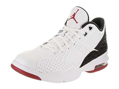 Jordan Nike Men's Air Franchise White/Gum/Red/Blacl Basketball Shoe 11 Men US by Jordan