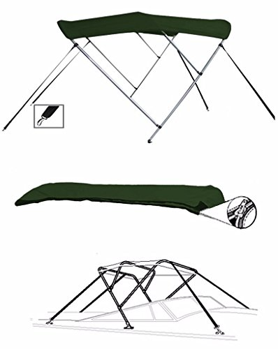 BIMINI TOP, SUNSHADE BOAT TOP, 7oz Material, Color Dark Green FOR LANDAU MV 1650 1995