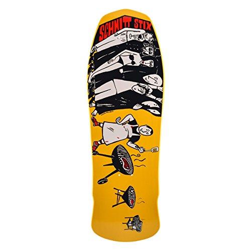"""Schmitt Stix Skateboards Joe Lopes BBQ Deck, Yellow, 10.125"""" x 30.625"""""""