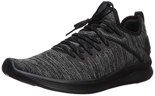 PUMA Men's Ignite Flash Evoknit Sneaker Black-Dark Shadow-Ponderosa Pine, 8 M US