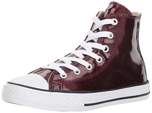 Converse Girls' Chuck Taylor All Star Glitter High Top Sneaker Brick/Natural 3 M US Infant ()