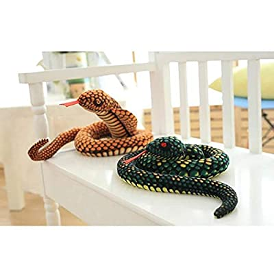 Kaptin Plush Toy Stuffed Animal Snake,Lifelike Toys,Plush Snake,Reptile Animal Toy,Plush Snake Animal Toy,Gifts for Kids (Green): Toys & Games