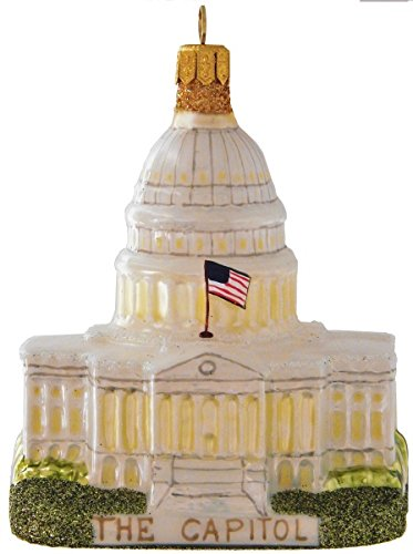 Landmark Creations' U.S. Capitol European Glass Blown Christmas Ornament