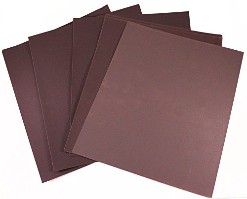 Car Builder Supply 780-784-A - Silicon Carbide Wet Dry 9 x 11 Sheet Assortment , 800 to 2000 Grit, 45 Sheet Clear Coat Finish Kit by Car Builder Supply