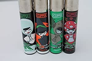 Bundle - 4 Items - Clipper Lighter Rare Geisha Collection by Clipper