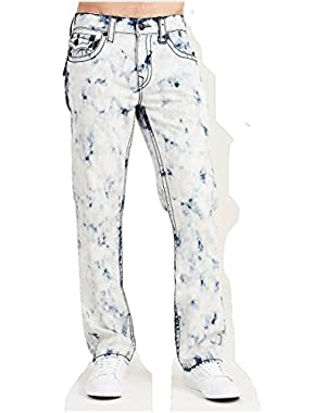 Men's Straight Leg Relaxed Fit Big T w/ Flap Jeans in Off White
