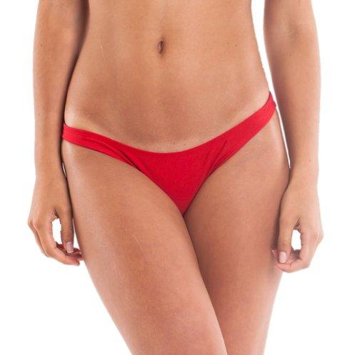 Coqueta Sweet Heart Brazilian Bikini Bottom Hipster Swimsuit RED-Medium