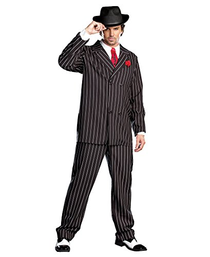 1920's Suit Costume (Gangsta Adult Costume - XX-Large)