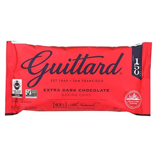 Guittard Chocolate Extra Dark - Chocolate Chip - Case of 12 - 11.5 oz.