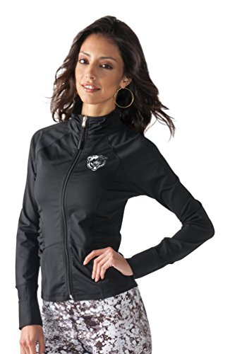 Touch by Alyssa Milano NFL Chicago Bears Women's Sideline Athleisure Track Jacket, Medium, Black