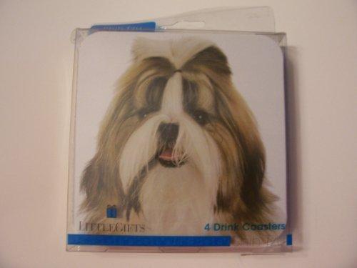 (Westport Collection Dog Themed Cork-backed Coasters ~ Shih Tzu (Set of 4 Coasters))