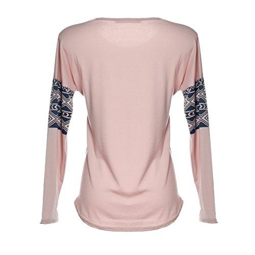 Manches longues animal ethnique Print Shirt Tops Blouse