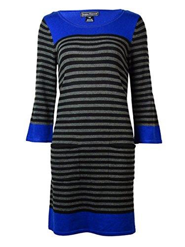 Jessica Howard Blue Women's Medium Petite Sweater Dress Gray PM