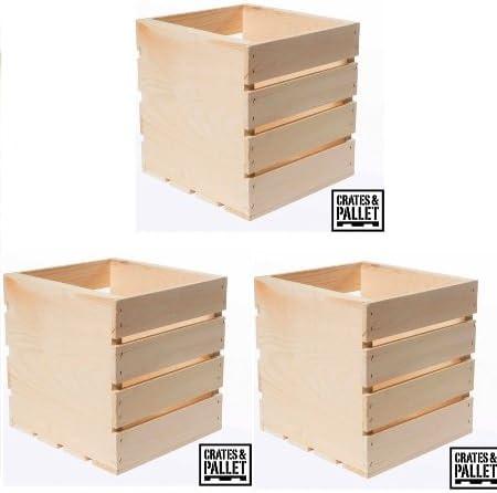 Cajas y Palet – Caja de Madera Cuadrada: Amazon.es: Productos para ...